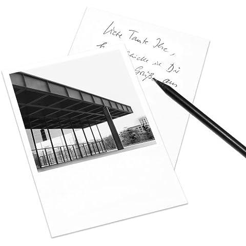Juego de 5 tarjetas postales Berlín en el estilo de Polaroid - retrato DIN A6 - Arquitectura Alemania - Tema: Neue Nationalgalerie
