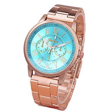 XKC-watches Herrenuhren, Damen Armbanduhr Modeuhr Quartz Armbanduhren für den Alltag Legierung Band Freizeit Gold (Farbe : Grün)