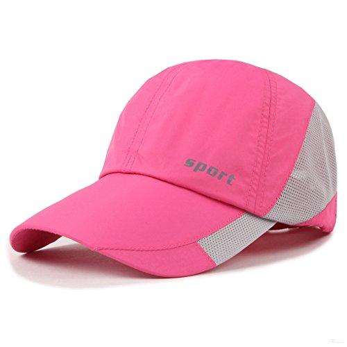 Blank Denim-denim (Lightweight Run Baseball Hat Outdoor Sport cap (Sport Series, Pink))