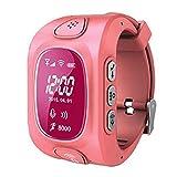 KOBWA Smart Watch für Kinder, 0,96 Zoll GPS Tracker(Wecker Stellen, Telefonieren, GPS Orten, Fern Reden, Schritte Zählen Usw.) für IPhone, Samsung