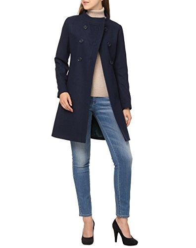 Sisley coat giubbotto, blu (navy 01y), 38 eu donna