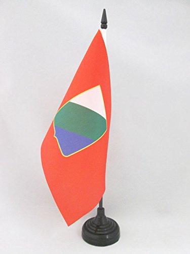 Az flag bandiera da tavolo abruzzo 21x14cm - piccola bandierina abruzzi - regione italia 14 x 21 cm