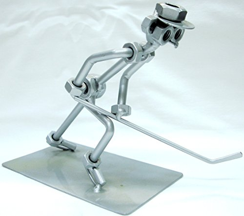Preisvergleich Produktbild Tisch Metall Statue, Hockey Statue, entstanden aus Metall Teilen