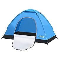 Produktbeschreibung:  URPRO Camping-Zelt ist leicht und kompakt. Ideal für Wandern, Camping, Jagd, Reisen, Angeln, Picknick, Grillen und andere Outdoor-Aktivitäten.   Eigenschaften:  Zeltmaterial: 190T wasserdichte silberne Pflaster.  Maße (aufgeklap...