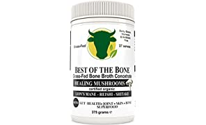 Premium Beef Bone Broth Concentrate Mushroom Flavor - 100% Sourced from AU Grass-Fed, Pasture-Raised Cattle - Healthier Skin & Nails, Healthy Digestion - Bone Broth Collagen