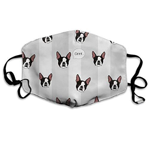 Masken, Masken für Erwachsene, Boston Terrier Dog Reusable Anti Dust Face Mouth Cover Mask Protective Breath Healthy Safety (Gas Maske Kleinkinder)