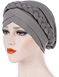F.lashes Femme Bonnet Musulmane Chimio Turban pour Cancer Perte de Cheveux  Cancer Chimiothérapie Turban d25ded19c12