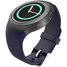 MoKo Gear S2 Watch Correa Reemplaza Deportiva de Silicona Suave para Samsung Galaxy Gear S2 SM-R720 / SM-R730 Smart Watch - Azul Medianoche (No se Ajuete a Gear S2 Classic SM-R732)