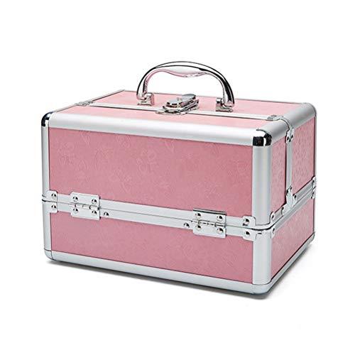 Malette maquillage Beauty case Coffret de rangement pour cas de bijoux de clou verrouillable beauté maquillage vanité beauté portable