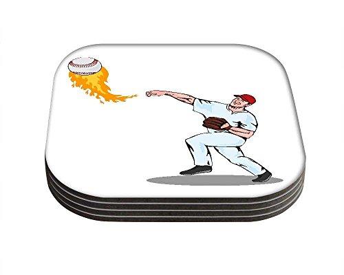 Snoogg American Baseball Player Krug Damen tragen lange Griff Shopper Tote klein (Baseball-tote)