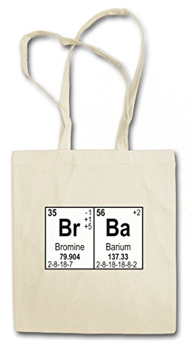 BR BA II LOGO Hipster Shopping Cotton Bag Borse riutilizzabili per la spesa - Breaking Walter Heisenberg White Meth Cook Bad