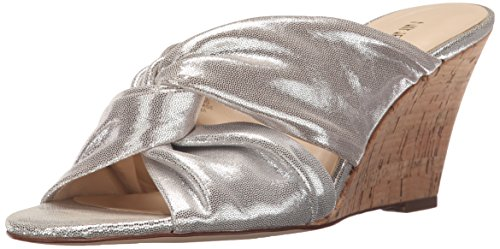 nine-west-kessie-donna-us-11-argento-scarpa-con-la-zeppa