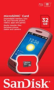 32GB SanDisk Micro SDHC Memory Card for Samsung Galaxy Tab 2 10.1 P5110