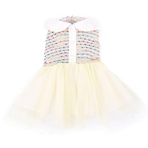 XUJW-PET, Hundekleid-Katzen-Kleid-reizend gemütliche Kleidung für kleines Haustier 5 Größe 2 Farbe ( Color : White , Size : XS )