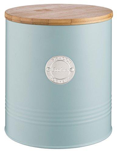 Typhoon Living Cookie de Rangement, Acier, Bleu Canard, 16 x 16 x 18 cm