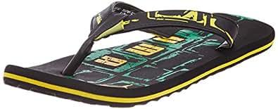 Puma Men's Kongo II Ind. Black, Amazon and Dandelion Flip Flops Thong Sandals - 8 UK/India (42 EU)
