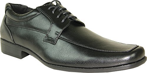 BRAVO Men Dress Shoe MONACO-4 Classic Oxford with Square Moc Toe and Leather LiningÃ' Black 11M by Bravo!