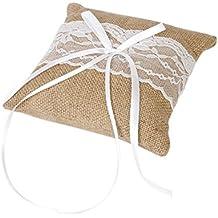Pixnor anello cuscino cuscino nuziale nozze cerimonia tasca portatore dell'anello - Cuscino Dell'anello Set
