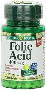 Nature's Bounty Folic Acid 400 mcg - 250 Tablets