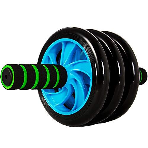 Lisansang Ab Roller-Rad-Übungsgerät Ab Roller-Rad Fitnessgeräte-Rad für die Kernübung Zwei Räder und Schaumstoffgriffe Bauchmuskeltraining Ab-Rad-Übungsgerät, Ab-Rad-Roller für Heimtrainer,