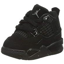 Nike Jordan 4 Retro (td), Boy's Basketball Shoe, Black/Black-Lt Graphite, 3.5 Child UK (19.5 EU)