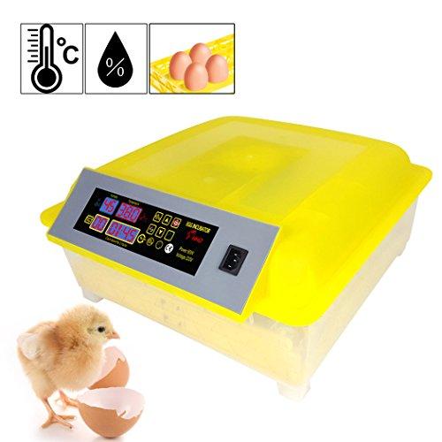 Fastdirect incubatrice automatica schiusa macchina cova allevatore per 48 uova incubazione professionale brevettata controllo di temperatura per gallina anatra quaglia tutti uccelli