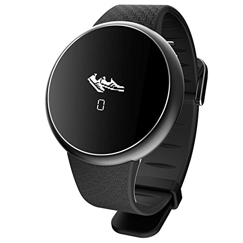 OOLIFENG A98 Fitness Smartwatch Blutdruck Herzfrequenz-Messgerät Anruferinnerung Aktivitäts-Tracker für Android iOS , black