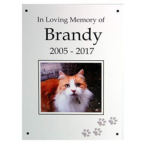 Memorial Plaque. Placa Conmemorativa. Impresión Personalizada para Mascotas a Todo Color. Placa de Aluminio A5 con Orificios para Montaje. para Gato, Perro, Conejo, cobaya, hámster, Gerbil.