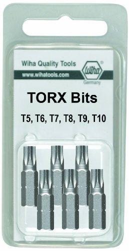 Wiha 71570 T5 to T10 Torx Insert Bit, 6-Pack by Wiha -