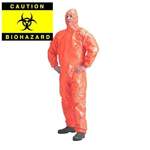 Biohazard-Ebola Protection-DUPONT Tychem F Combinaison chimique Combinaison Combinaison jetable-Taille M