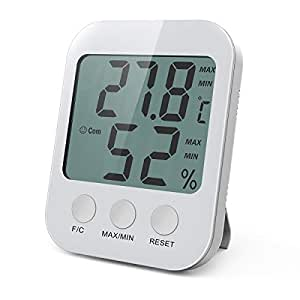 oria digital hygrometer thermometer temperatur luftfeuchtigkeit messger t monitor mit lcd. Black Bedroom Furniture Sets. Home Design Ideas