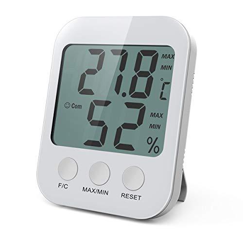 ORIA Digital Hygrometer Thermometer, Temperatur Luftfeuchtigkeit Messgerät Monitor mit LCD...