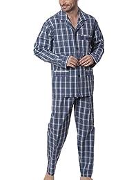 El Búho Nocturno - Pijama de Caballero | Pijama de Hombre de Tela de Manga Larga