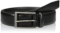 Van Heusen Mens Mens Leather Belt, black, 36