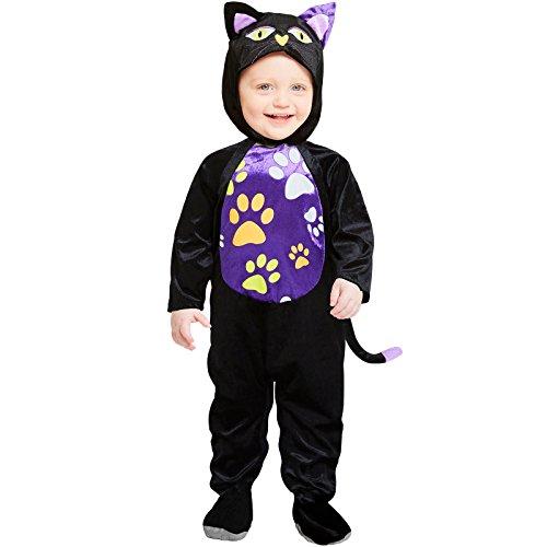 Baby-Katze Schwarzer Kater Halloween Kostüm Baby (Baby Halloween Kostüme Schwarze Katze)
