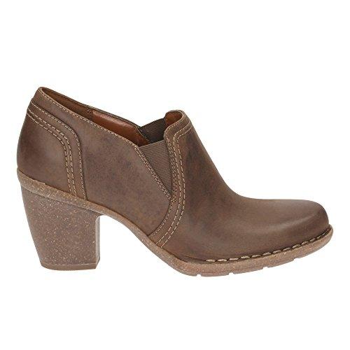 CLARKS Clarks Womens Shoe Carleta Turin Brown Nubuck Marrone