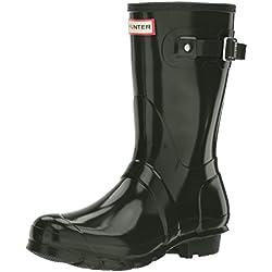 Hunter Low Wellington Boots, Botas de Agua para Mujer, Verde (Dark Green/dov), 38 EU