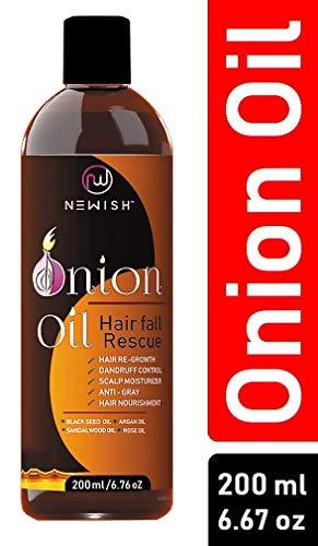 Huile d'oignon rouge pour repousse des cheveux homme et femme, 200 ml
