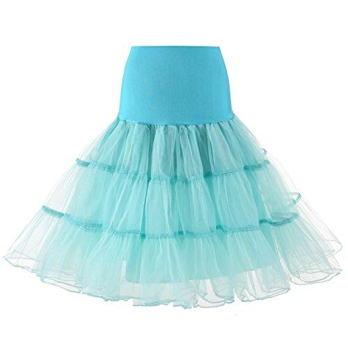 MEITEMEI Petticoat Sottogonna Retro Annata di 50 Oscillazione 1950 Rockabilly Menta