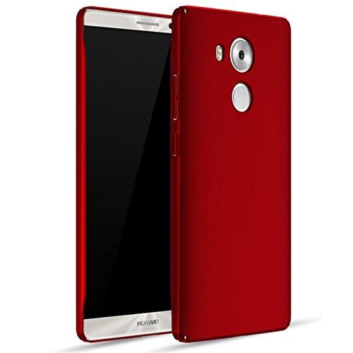 Bllosem Huawei Mate 8 Hülle High Quality Ultra Slim Exquisite Reale Haut Gefühl Ganzkörper Schutzhülle für Huawei Mate 8 Rot