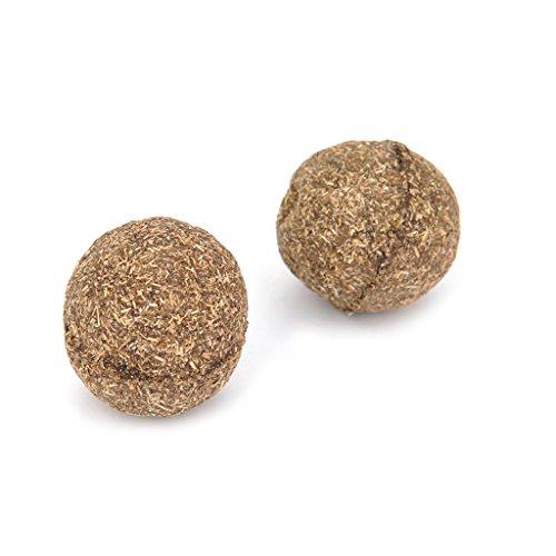 Longsw Spielball für Katzenspielzeug, Kugel mit Minze und Naturkatzen