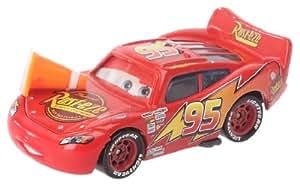 Cars - T0739 - Véhicule Miniature - Voiture - Yeux Lenticulaires - Flash McQueen avec cône
