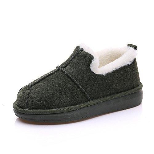 Snow Boots bassa inverno caldo stivali imbottiti di cotone di spessore breve aiuto Army green