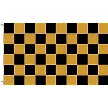 BANDERA A CUADROS NEGROS Y BLANCOS 150x90cm - BANDERA DE CARRERAS AUTOMOVILES - NEGRO Y BLANCO 90 x 150 cm - AZ FLAG