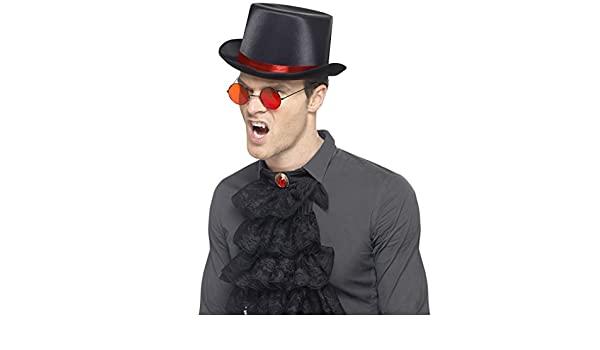 Gothic Set mit Hut Brille und Jabot Vampir Kostümset Dracula Steampunk Lord Set