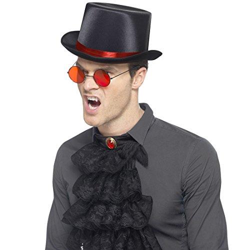 Set costume vampiro Kit gotico con cilindro, occhiali e jabot - Travestimento halloween Dracula Accessori da succhiasangue Outfit signore oscuro Accessorio vestito steampunk