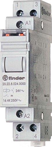 Preisvergleich Produktbild Finder Serie 20–Schalter Bipolar 2Na 230VAC AgSno2Rail 35mm