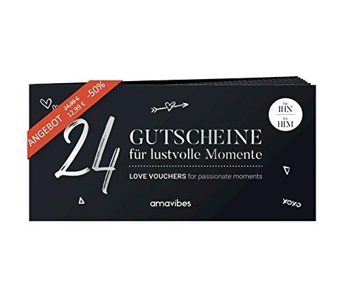 Premium Liebes-Gutscheinheft für Männer: 24 Liebes-Gutscheine, perfekt als Adventskalender, Partner-Geschenk für Freund, Partner