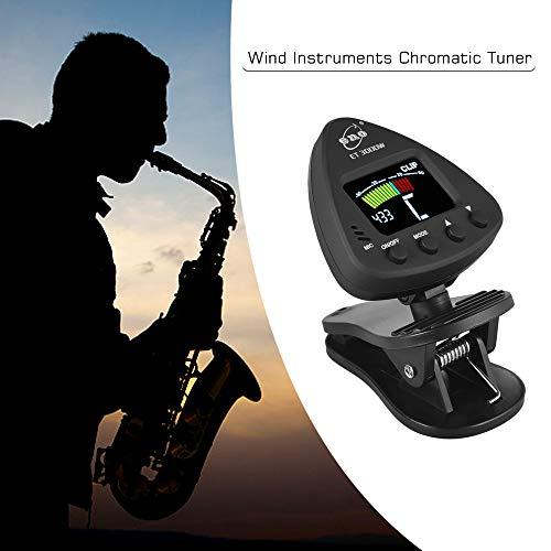 Kalaok ET 3000W Blasinstrumenten-Tuner unterstützt Mikrofon- und Clip-On-Tuning-Modi für Saxophon-Klarinetten-Trompetenflöte