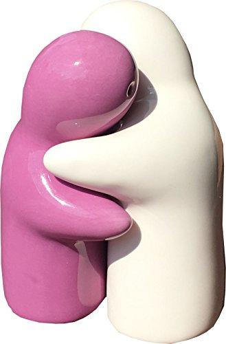 TD Kitchen Salz Pfeffer Gewürz Geist Puppe (Pink/Weiß) Salzstreuer Pfefferstreuer Gewürzstreuer -